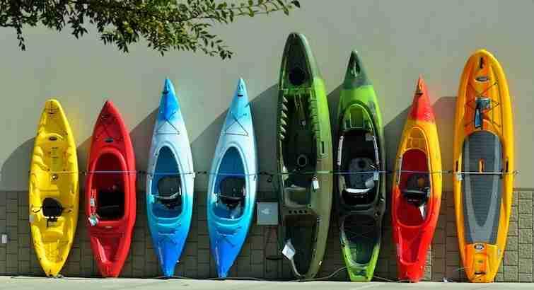 Different kayak models