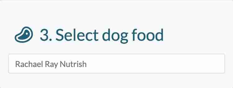Enter prefered dog food brand